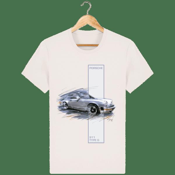 T-shirt Porsche 911 type G - Vintage White - Face