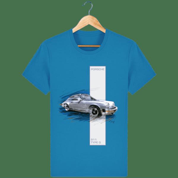 Tee shirt Porsche 911 Type G coloris 2 - Azur - Face