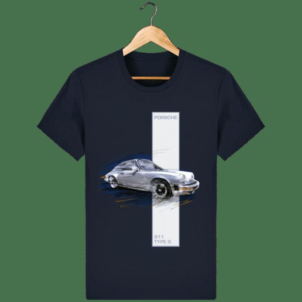 Tee shirt Porsche 911 Type G coloris 2 - French Navy - Face