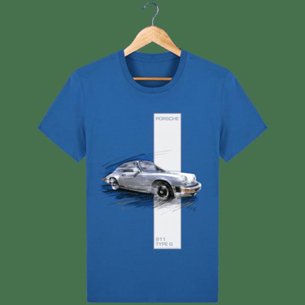 Tee shirt Porsche 911 Type G coloris 2 - Royal Blue - Face
