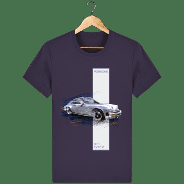 Tee shirt Porsche 911 Type G coloris 2 - Plum - Face