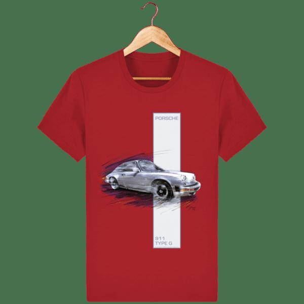Tee shirt Porsche 911 Type G coloris 2 - Red - Face