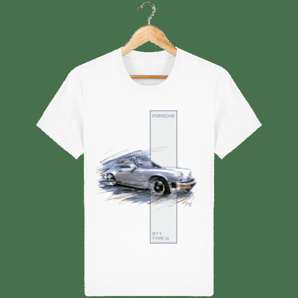 Tee shirt Porsche 911 Type G coloris 2 - White - Face