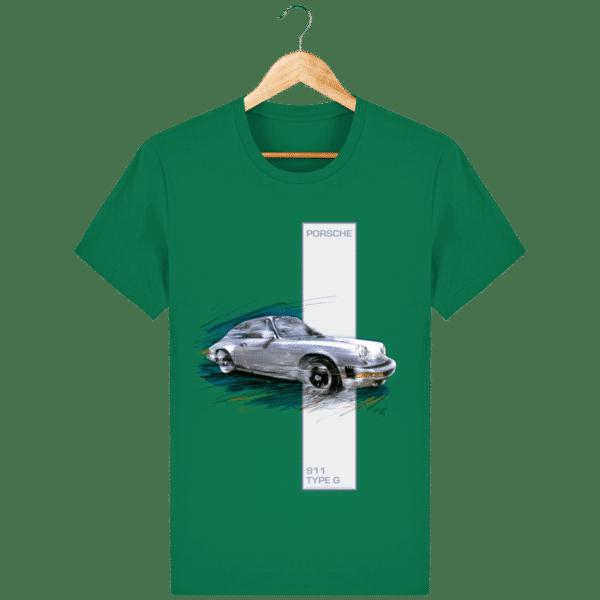 Tee shirt Porsche 911 Type G coloris 2 - Varsity Green - Face