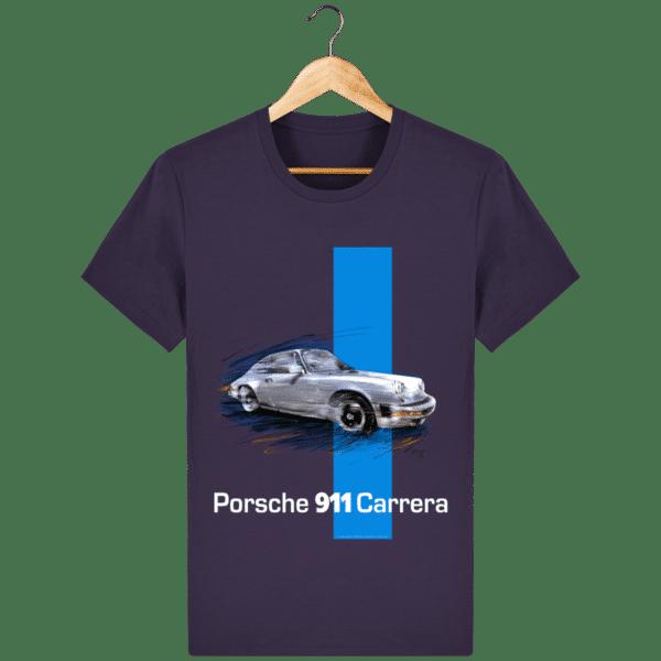 t-shirt-porsche-911-carrera-coloris-2 - Plum - Face