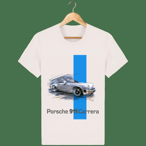 T-shirt blanc Porsche 911 carrera - Vintage White - Face