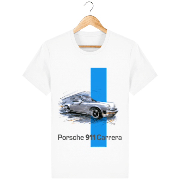 T-shirt blanc Porsche 911 carrera - White - Face