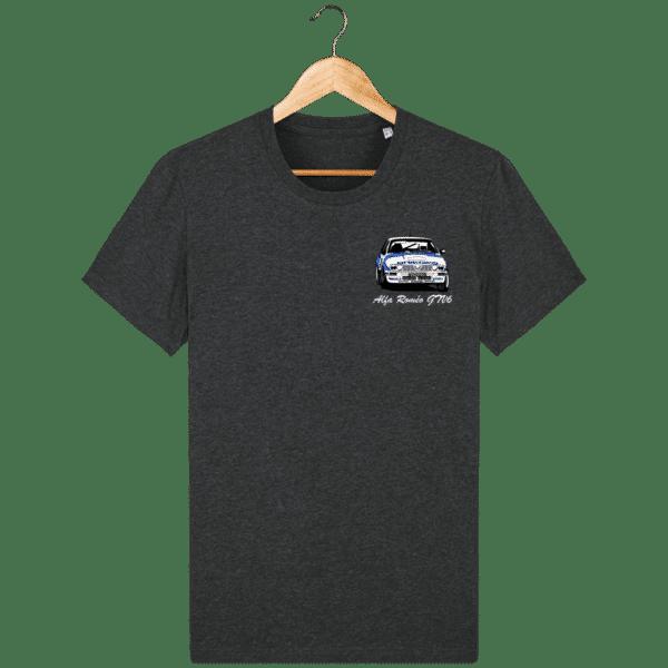 T-shirt gris foncé moiré Alfa Roméo GTV6 gr A Christian Rigollet
