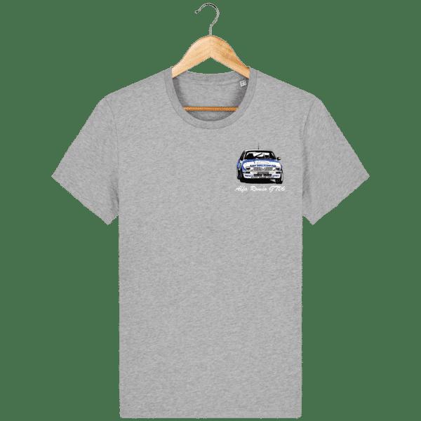 T-shirt gris moiré Alfa Roméo GTV6 gr A Christian Rigollet
