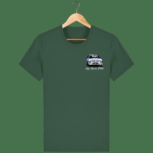T-shirt vert bouteille Alfa Roméo GTV6 gr A Christian Rigollet
