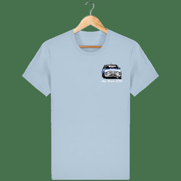 T-shirt bleu ciel Alfa Roméo GTV6 gr A Christian Rigollet