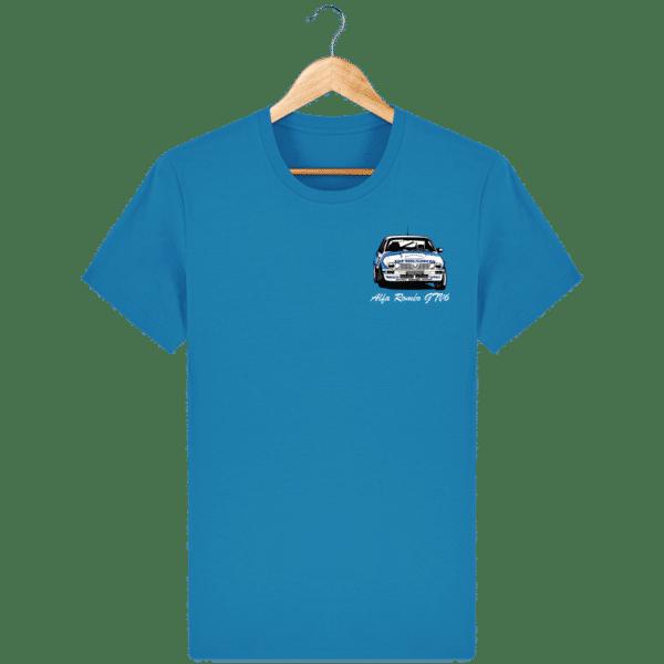 T-shirt bleu azur Alfa Roméo GTV6 gr A Christian Rigollet