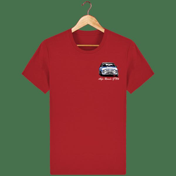 T-shirt rouge Alfa Roméo GTV6 gr A Christian Rigollet