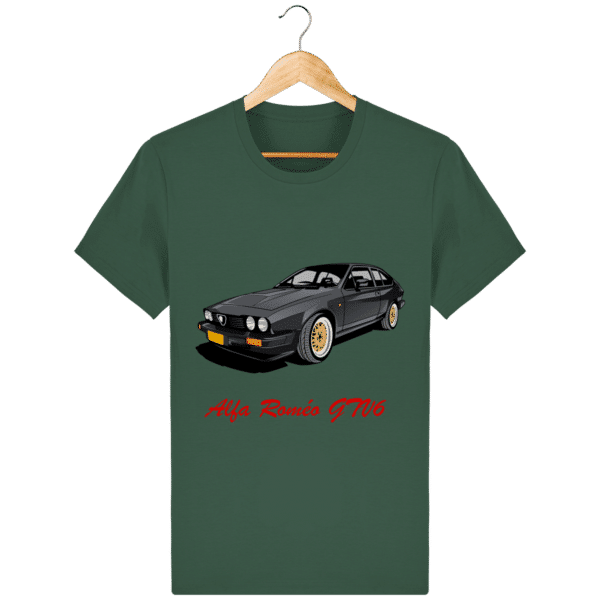 T-shirt Alfa Roméo GTV6 gris foncé - Bottle Green - Face