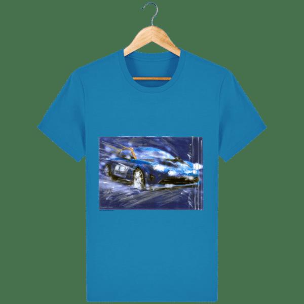 T-shirt Nouvelle Alpine A110 - Azur - Face