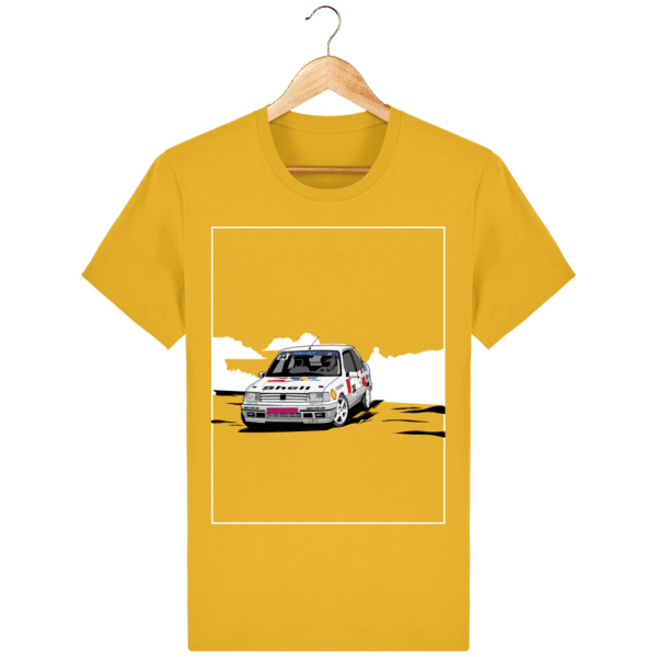 T-shirt 309 GTI 16 grA PTS Peugeot Talbot Sport - Spectra Yellow - Face
