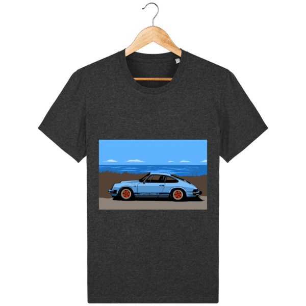 T-shirt Porsche 911 3,2l Carrera bord de mer - dark-heather-grey_face