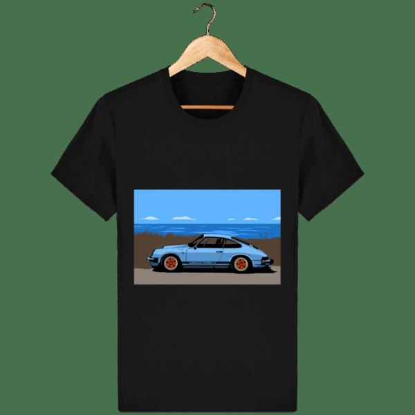 T-shirt Porsche 911 3,2l Carrera bord de mer - black_face