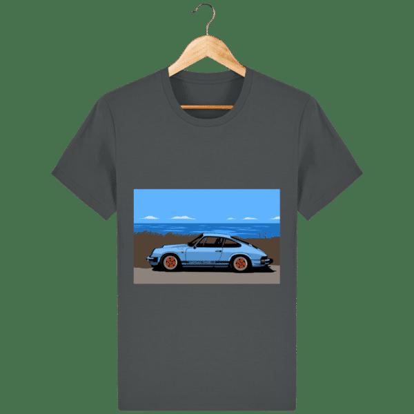 T-shirt Porsche 911 3,2l Carrera bord de mer - anthracite_face