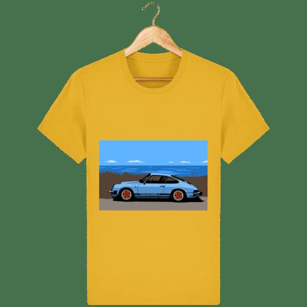 T-shirt Porsche 911 3,2l Carrera bord de mer - spectra-yellow_face