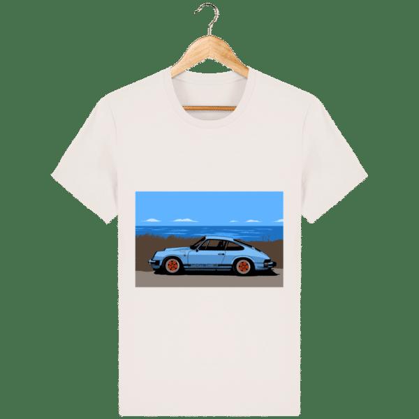 T-shirt Porsche 911 3,2l Carrera bord de mer - vintage-white_face
