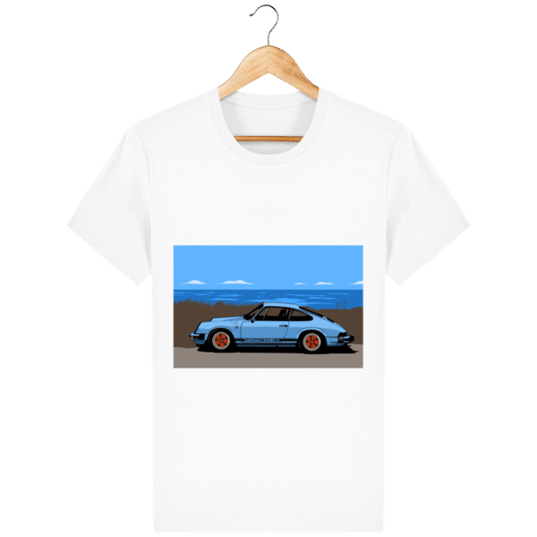 T-shirt Porsche 911 3,2l Carrera bord de mer - white_face