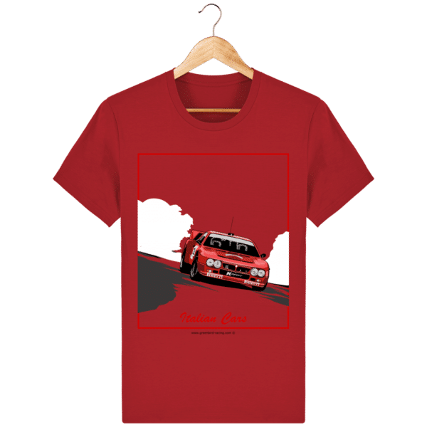 T-shirt Lancia 037 Italian Cars - red_face