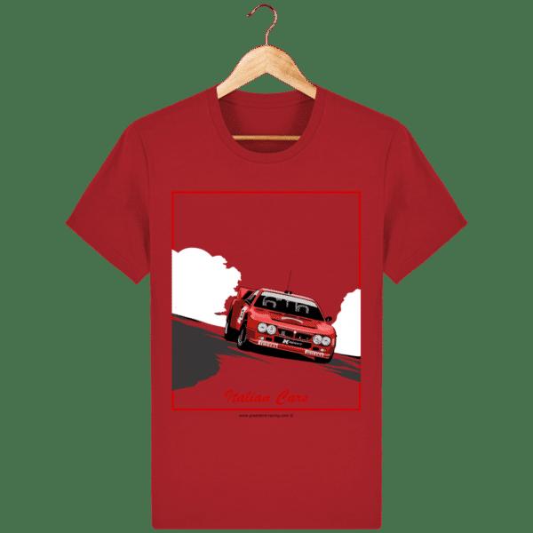 T-shirt Lancia 037 Italian Cars - red_face