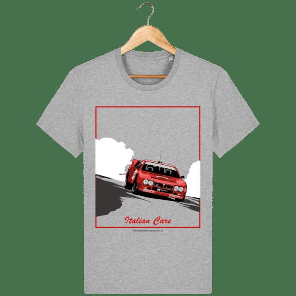 T-shirt Lancia 037 Italian Cars - heather-grey_face