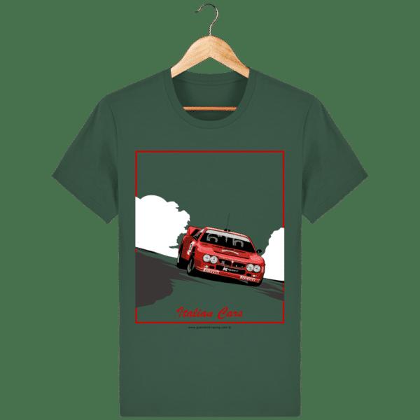 T-shirt Lancia 037 Italian Cars - bottle-green_face
