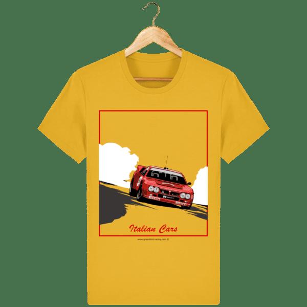 T-shirt Lancia 037 Italian Cars - spectra-yellow_face