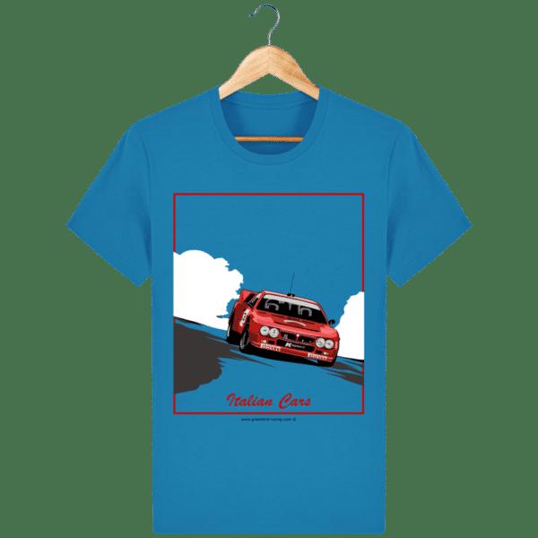 T-shirt Lancia 037 Italian Cars - azur_face