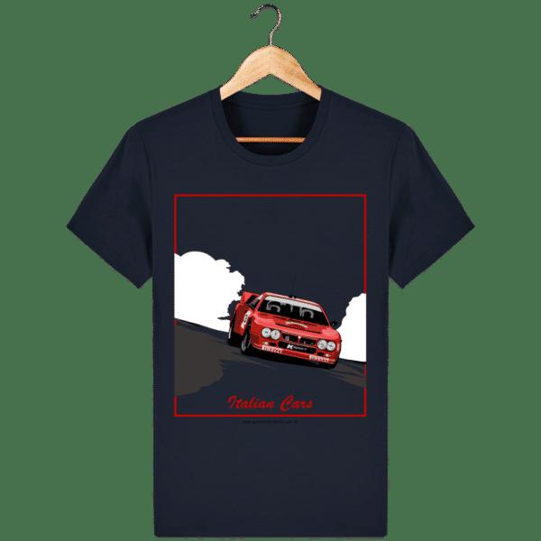 T-shirt Lancia 037 Italian Cars - french-navy_face