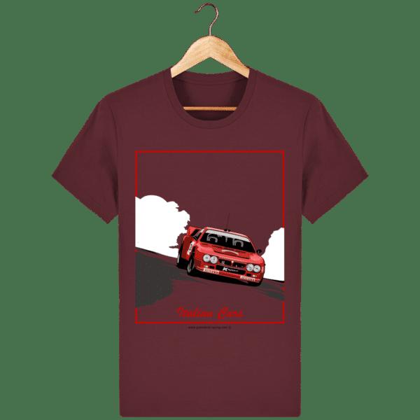 T-shirt Lancia 037 Italian Cars - burgundy_face