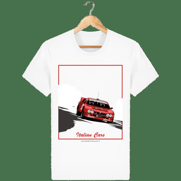 T-shirt Lancia 037 Italian Cars - white_face