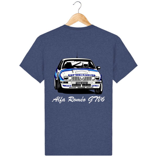 T-shirt noir indigo mélangé Alfa Roméo GTV6 gr A Christian Rigollet