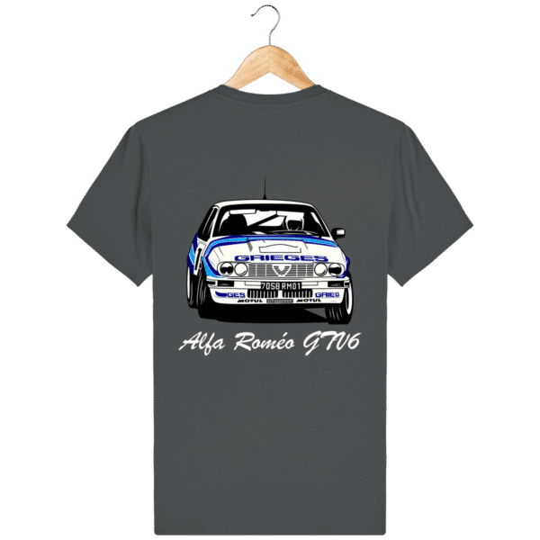 T-shirt anthracite Alfa Roméo GTV6 gr A Christian Rigollet