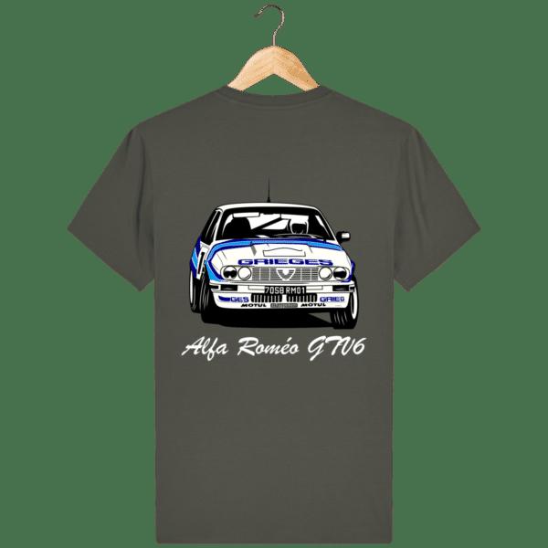 T-shirt kaki Alfa Roméo GTV6 gr A Christian Rigollet