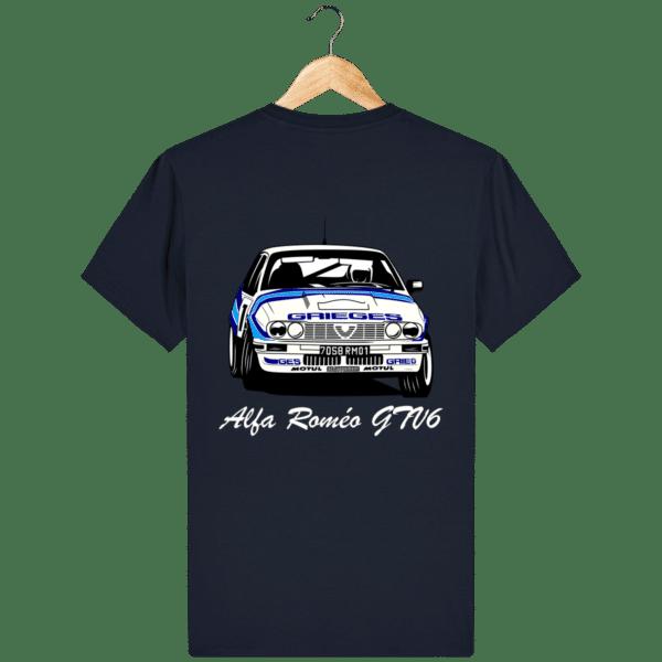 T-shirt bleu marine Alfa Roméo GTV6 gr A Christian Rigollet