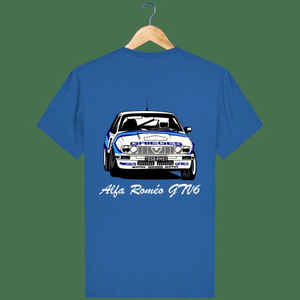 T-shirt bleu royal Alfa Roméo GTV6 gr A Christian Rigollet