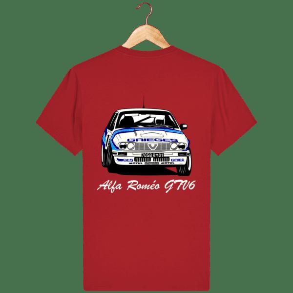T-shirt rouge Alfa Roméo GTV6 gr A Christian Rigollet dos
