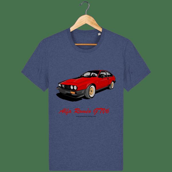 T-shirt GTV6 rouge alfa Roméo - dark-heather-indigo_face