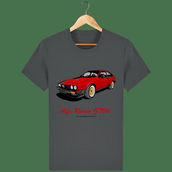 T-shirt GTV6 rouge alfa Roméo - anthracite_face