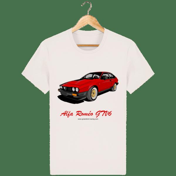 T-shirt GTV6 rouge alfa Roméo - vintage-white_face