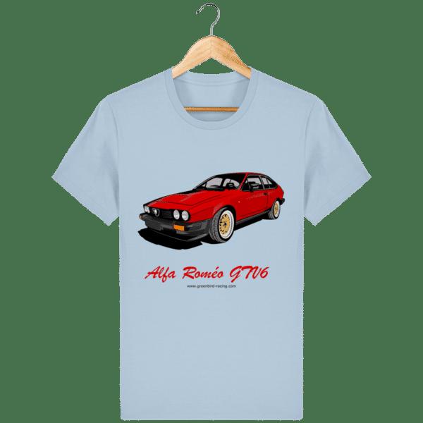 T-shirt GTV6 rouge alfa Roméo - sky-blue_face