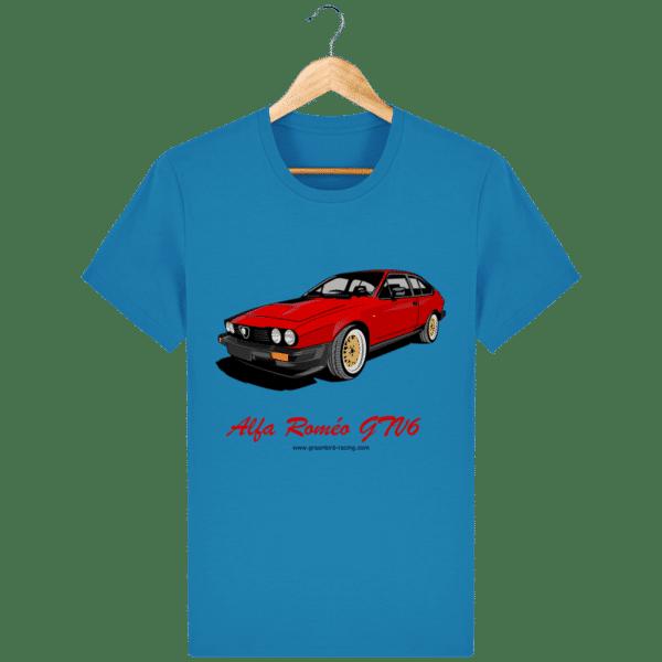 T-shirt GTV6 rouge alfa Roméo - azur_face
