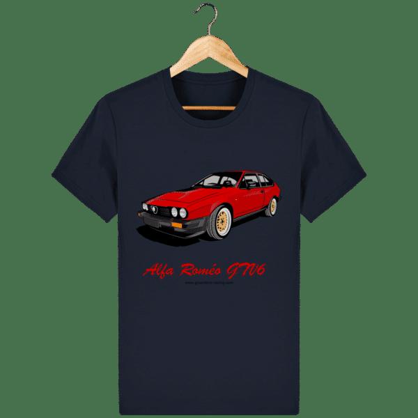 T-shirt GTV6 rouge alfa Roméo - french-navy_face