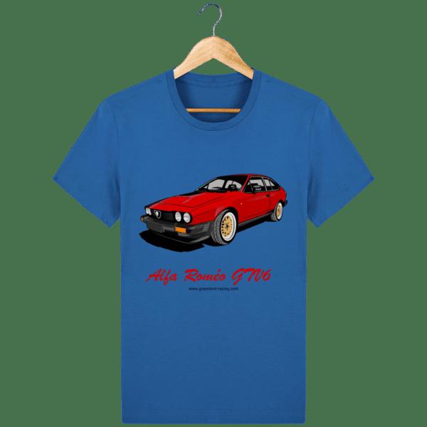 T-shirt GTV6 rouge alfa Roméo - royal-blue_face