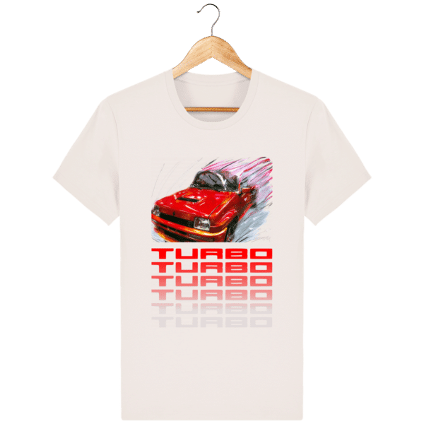 T-shirt Renault 5 TURBO 1 rouge - vintage-white_face