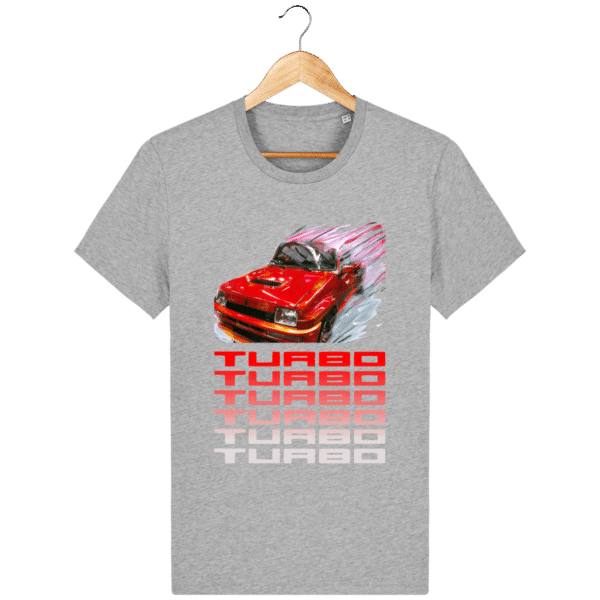 T-shirt Renault 5 TURBO 1 rouge - heather-grey_face